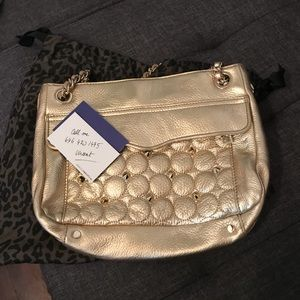 Rebecca minkoff gold circle swing with studs